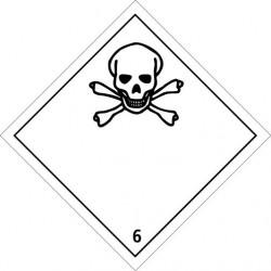 Etiquette de Danger 100x100 classe 6.1 - Rouleau de 1000u