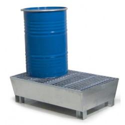 Bac de rétention acier 2 futs avec caillebotis Zingué