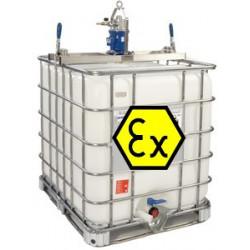 Mélangeur agitateur ATEX pour cuve 1000l IBC GRV Pneumatique