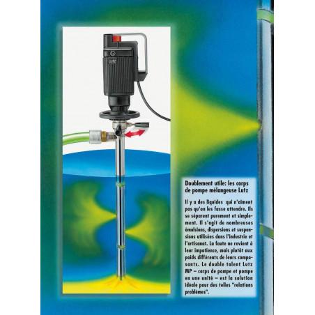 Pompes Mélangeuse pneumatique  ATEX fûts et IBC liquides à risque d'explosion
