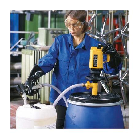 Pompe vide fût et cuve 1000l IBC GRV pour produits ALCALINS
