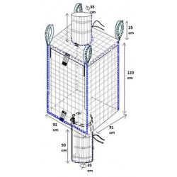 Big-Bag Conductif avec goulottes de remplissage et vidange Non ADR