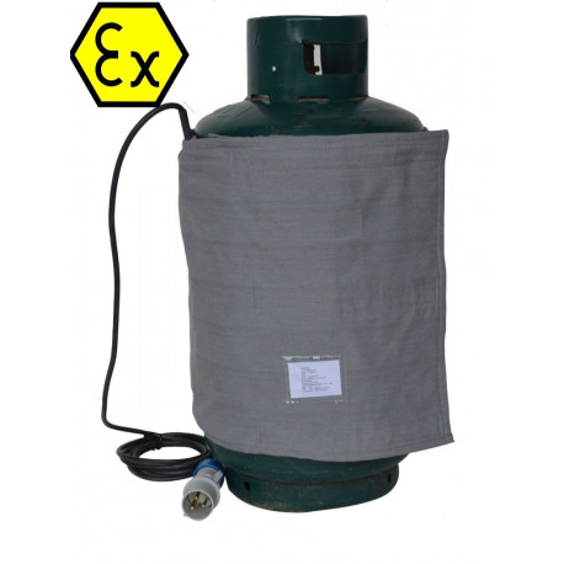 Couverture chauffante ATEX bouteille butane propane gas