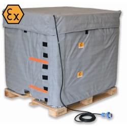 Couverture chauffante ATEX pour cuve 1000 litres IBC avec thermostat