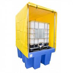 Bac de rétention couvert pour 1 cuve 1000l Polyéthylène