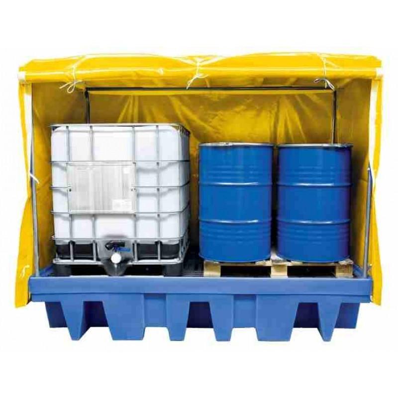 Bac de rétention couvert pour 2 GRV Polyéthylène