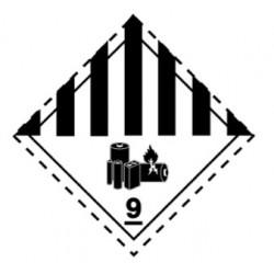 Etiquette de Danger 100x100 classe 9A Lithium - Rouleau de 1000u