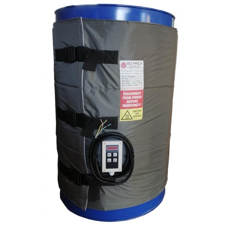 Couverture chauffante pour fût plastique et métal 200 litres 1200w Digitale