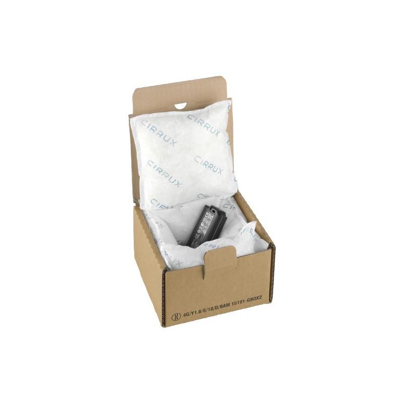 Cartons UN 4G/Y1.8 pour P908 lithium endommagée