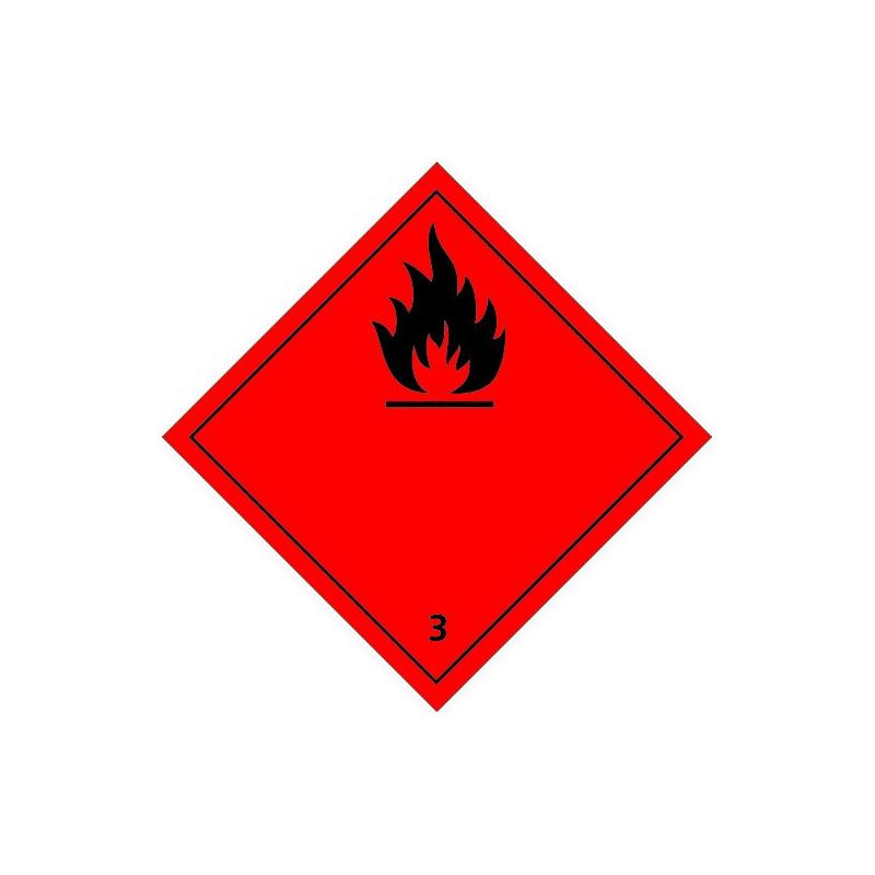 Etiquette de Danger 100x100 classe 3 - Rouleau de 1000u