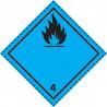 Etiquette de Danger 100x100 classe 4.3 - Rouleau de 1000u