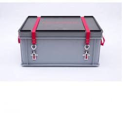 Caisse transport batterie lithium endommagée P908