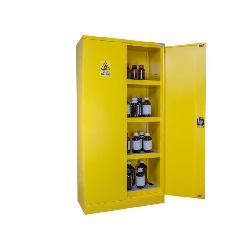 Armoire de sécurité produits dangereux Haute 2 portes jaune