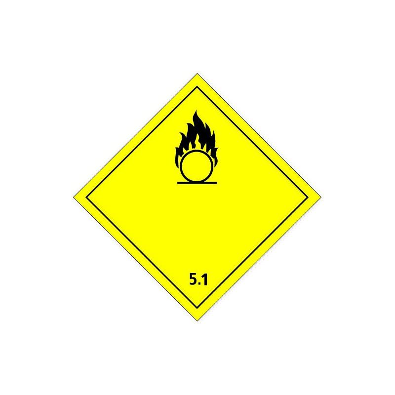 Etiquette de Danger 100x100 classe 5.1 - Rouleau de 1000u