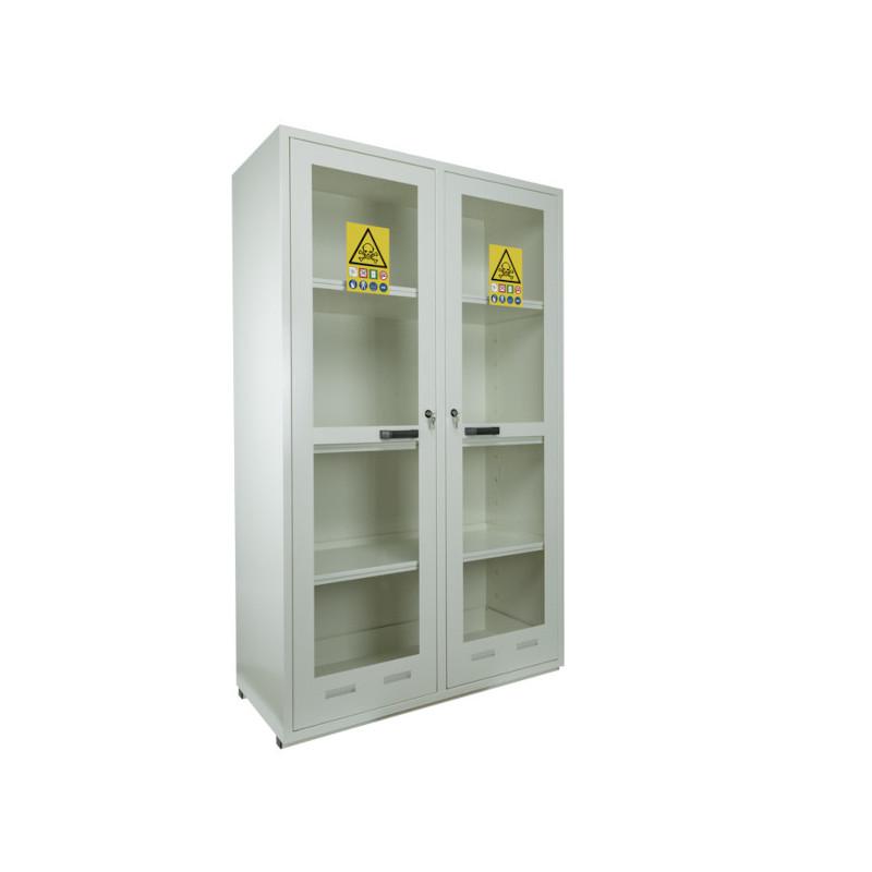 Armoire de sécurité produits toxiques et réactifs 2 portes vitrées