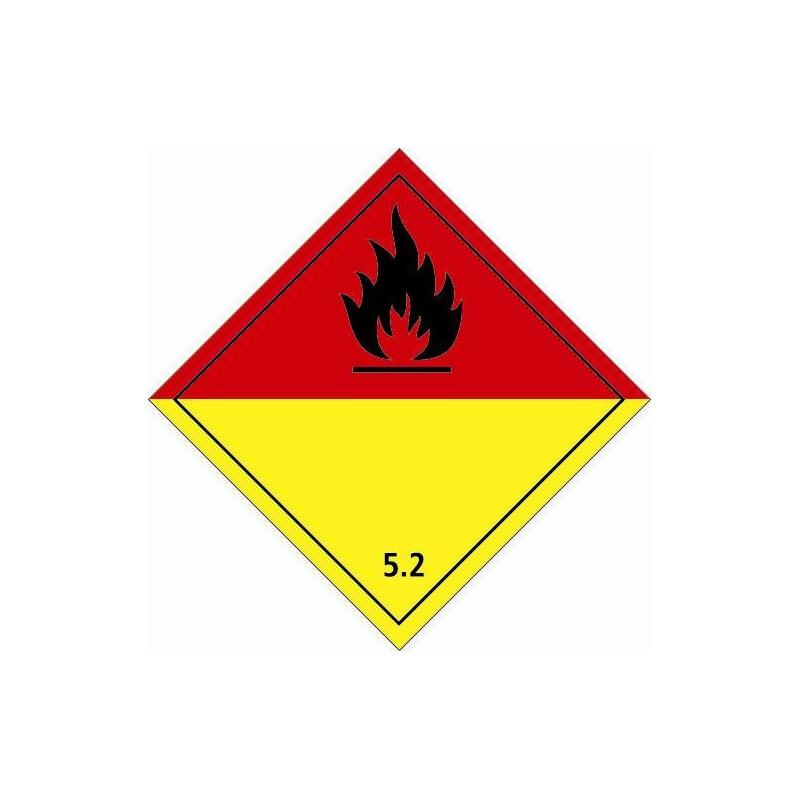 Etiquette de Danger 100x100 classe 5.2 - Rouleau de 1000u