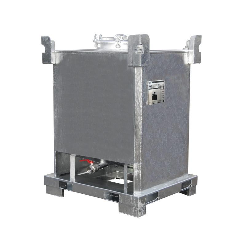 Cuve 1000l IBC métal ADR liquides