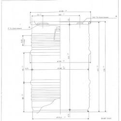 Fût Métal 60l Ouverture totale UN/1A2/Y1. 2/100