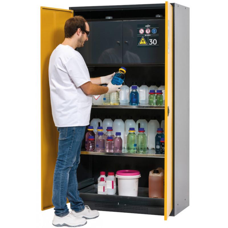 Armoire pour produits chimiques avec box de sécurité