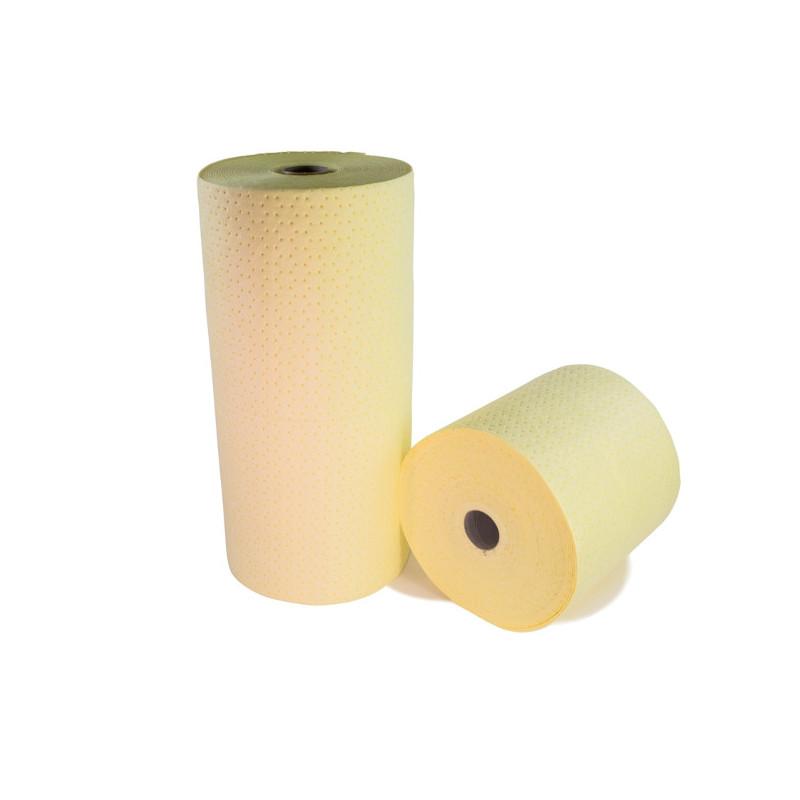 Rouleau absorbant produits chimiques simple épaisseur (carton de 2)