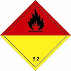 Etiquette de placardage 250x250 classe 5.2 Vinyle adhésif