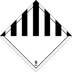 Etiquette de placardage 250x250 classe 9 Vinyle adhésif