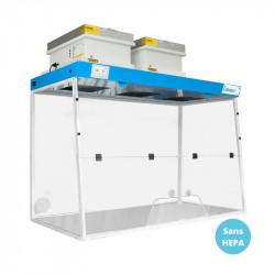 Hotte filtrante de laboratoire 150x75cm LABOPUR 2 colonnes - classe 1