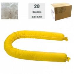 Boudins absorbants produits chimiques (carton de 20)