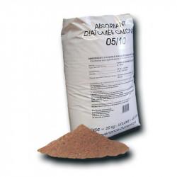 Granulé absorbant minéral Diatomée usage routier (pal de 50 sacs)
