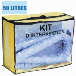 Kit d'intervention pour hydrocarbure 50L