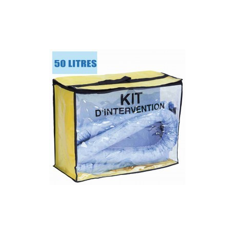 Kit d'intervention pour hydrocarbure 50L