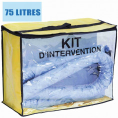 Kit d'intervention pour hydrocarbure 75L