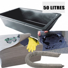 Kit d'intervention pour Liquides 50L ADR