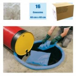 Coussins absorbants pour Hydrocarbures (carton de 16)