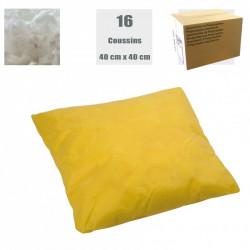 Coussins absorbants pour produits chimiques (carton de 16)