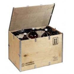 Caisses bois homologuées transport matières dangereuses sans clouage - Lot de 48