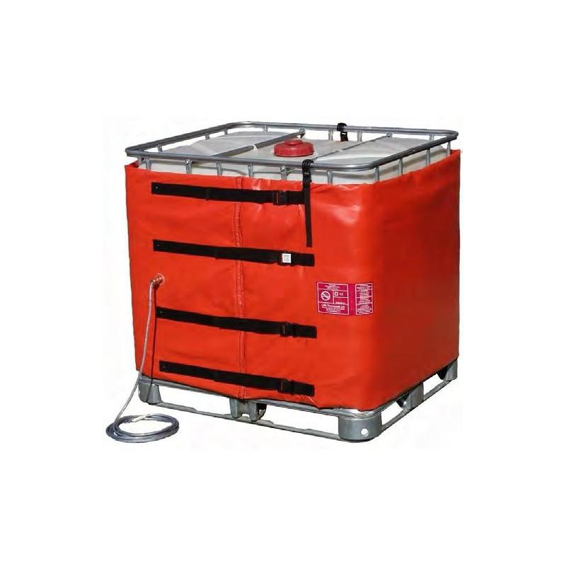 Couverture chauffante ATEX pour GRV / IBC