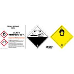 Etiquetage matières dangereuses