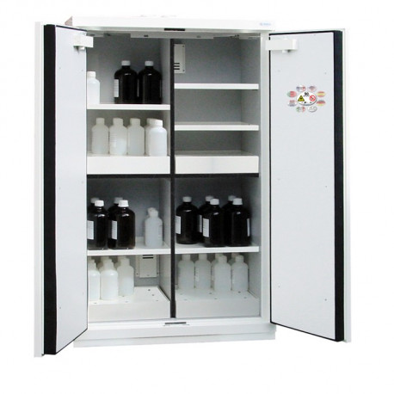 Armoires de sécurité multirisques à 4 compartiments (Inflammables, Acides, Bases et Toxiques) 30'