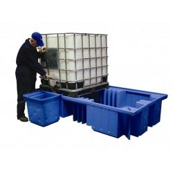 Bac de rétention Polyéthylène pour 2 GRV ou 8 fûts