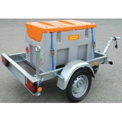 Remorque routière avec station service mobile Gasoil