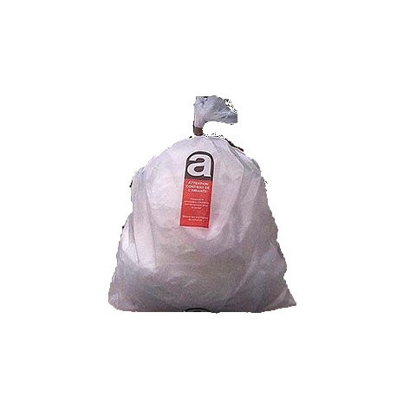 Sac polyéthylène Amiante homologué 5H4 - Lot de 1000u
