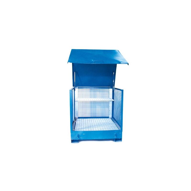 Box de stockage 2 futs avec parois grillagées