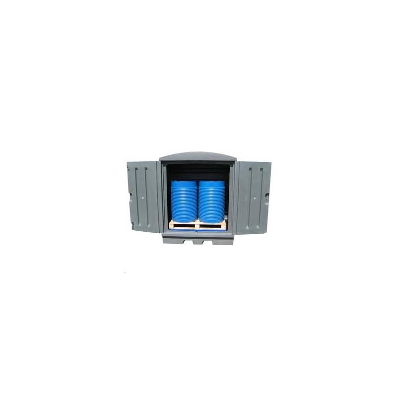 Box de stockage 2 futs en polyéthylène